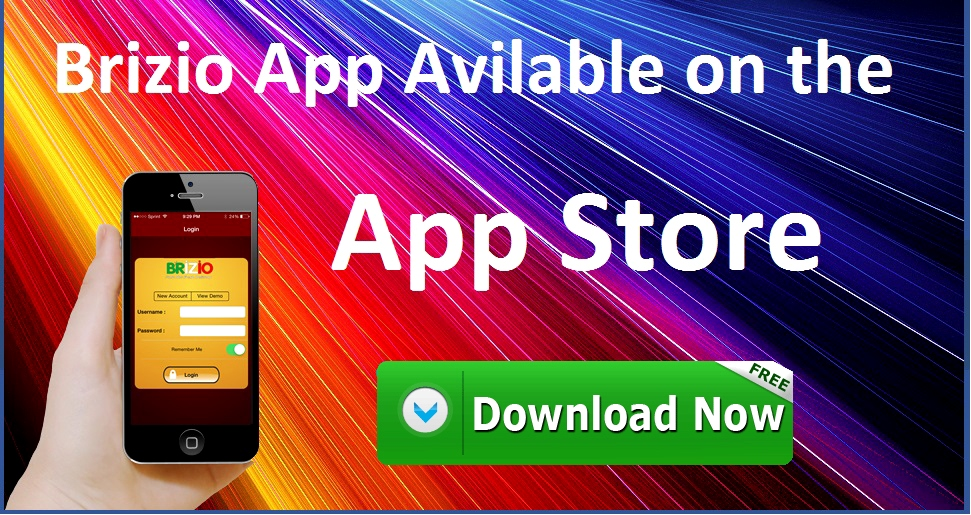 Brizio App Availble on the App Store. Download Now